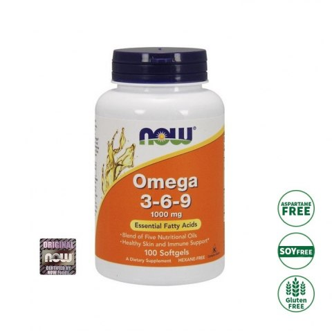 Now Foods Omega 3-6-9 90 kapsułek softgels (1200 mg) NOW FOODS