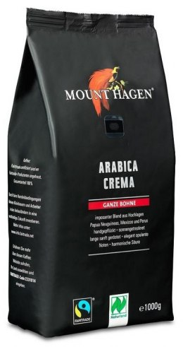 KAWA ZIARNISTA ARABICA 100 % CREMA FAIR TRADE BIO 1 kg - MOUNT HAGEN