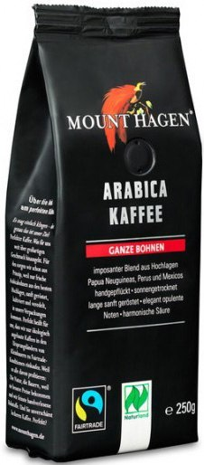 KAWA ZIARNISTA ARABICA FAIR TRADE BIO 250 g - MOUNT HAGEN